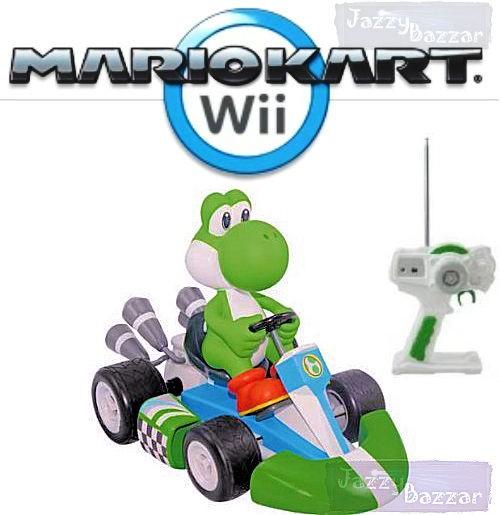 Wii YOSHI MARIO KART HUGE Radio Remote Control Car Battery Charge