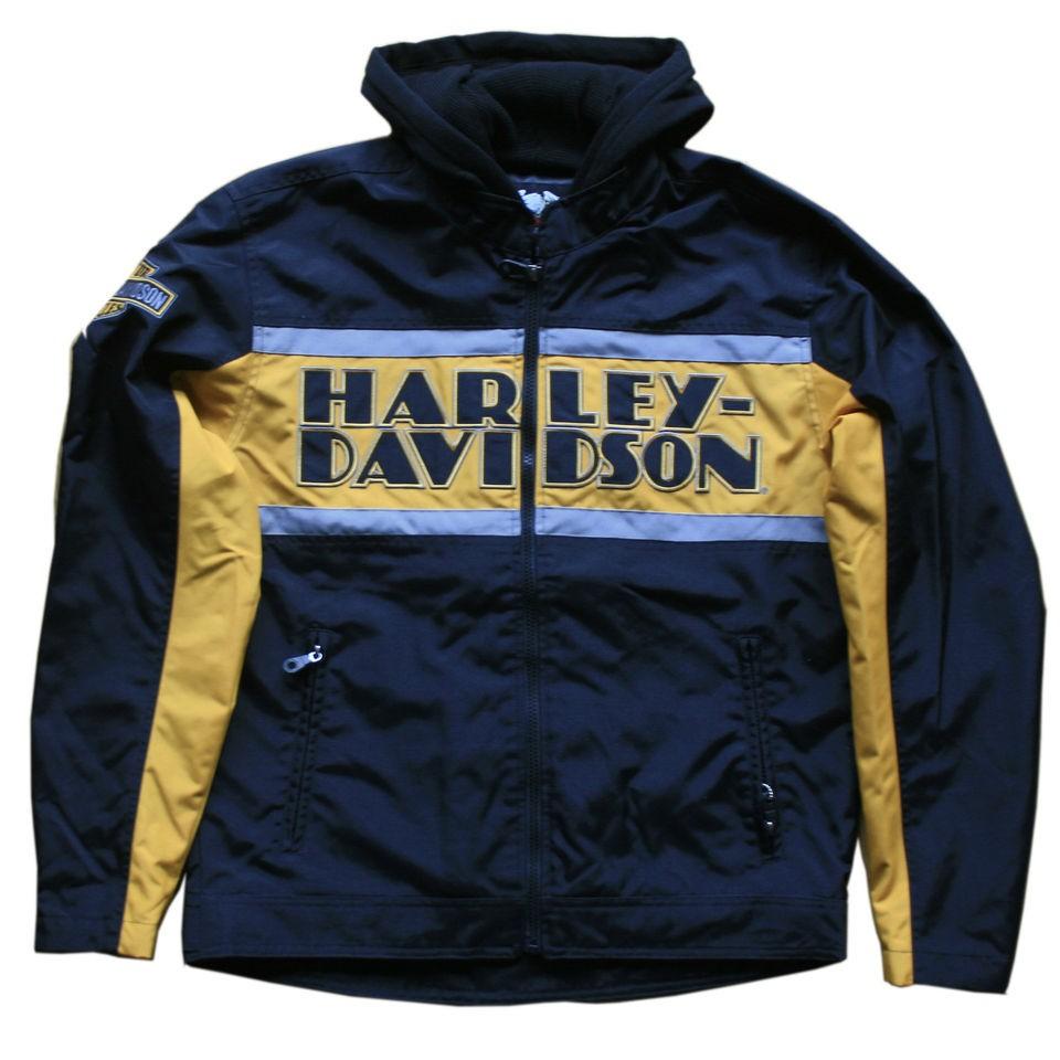 harley davidson mens nylon jacket in Clothing,