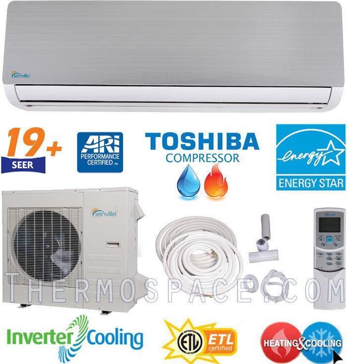 12,000 BTU ENERGY STAR Ductless Mini Split Air Conditioner Heat Pump