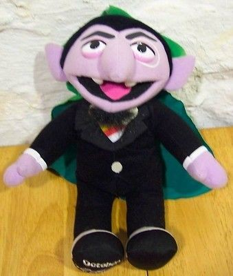 Sesame Street Count Von Count In Tv Movie Character Toys