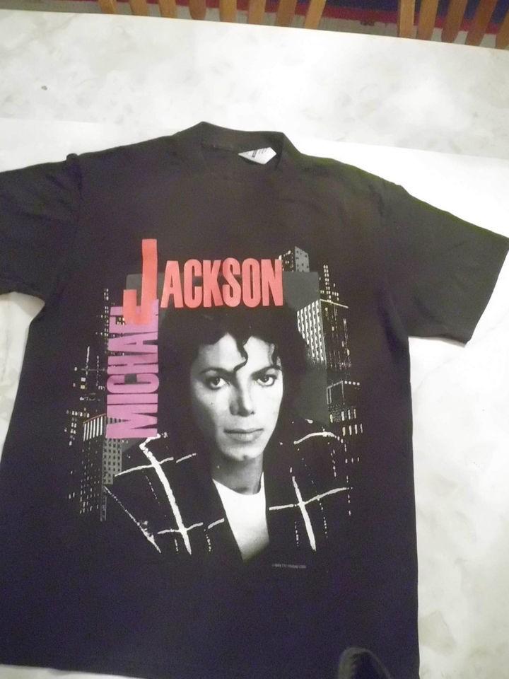 Vintage Michael Jackson Bad Tour 88 Black T shirt Size M Front & Back