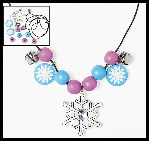 Charm Necklace Craft Kit for Kids ABCraft Winter Christmas Jewelry Kit