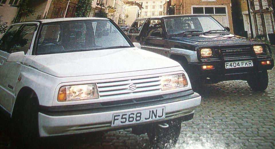 Daihatsu Sportrak EL V Suzuki Vitara JLX Hardtop 1989 Original