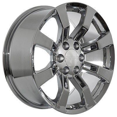 24 inch GMC truck SUV 2009 Yukon Denali XL Sierra chrome wheels rims