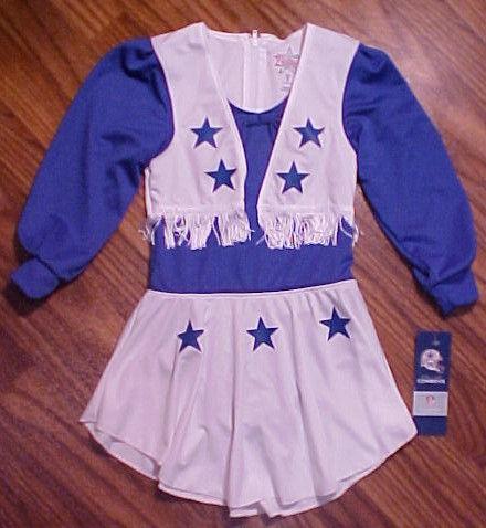 Dallas Cowboys Girls Cheerleader Uniform Halloween Costume Sz 2t Xl