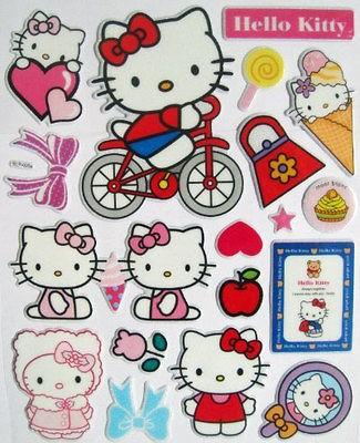 Cheap Hello Kitty Sticker 3D Kids Cartoon Stickers Children Room
