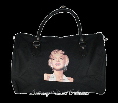 Marilyn Monroe Travel Tote Bag Duffle Bag   Black