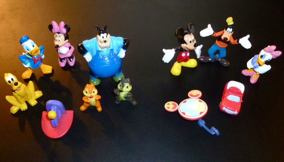 New MOUSEKA FUN Disney Mickey Mouse Clubhouse 12 Figurines/Playmat