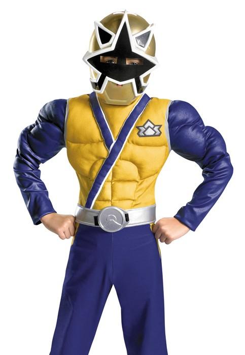 Kids Power Rangers Samurai Gold Ranger Deluxe Halloween Costume