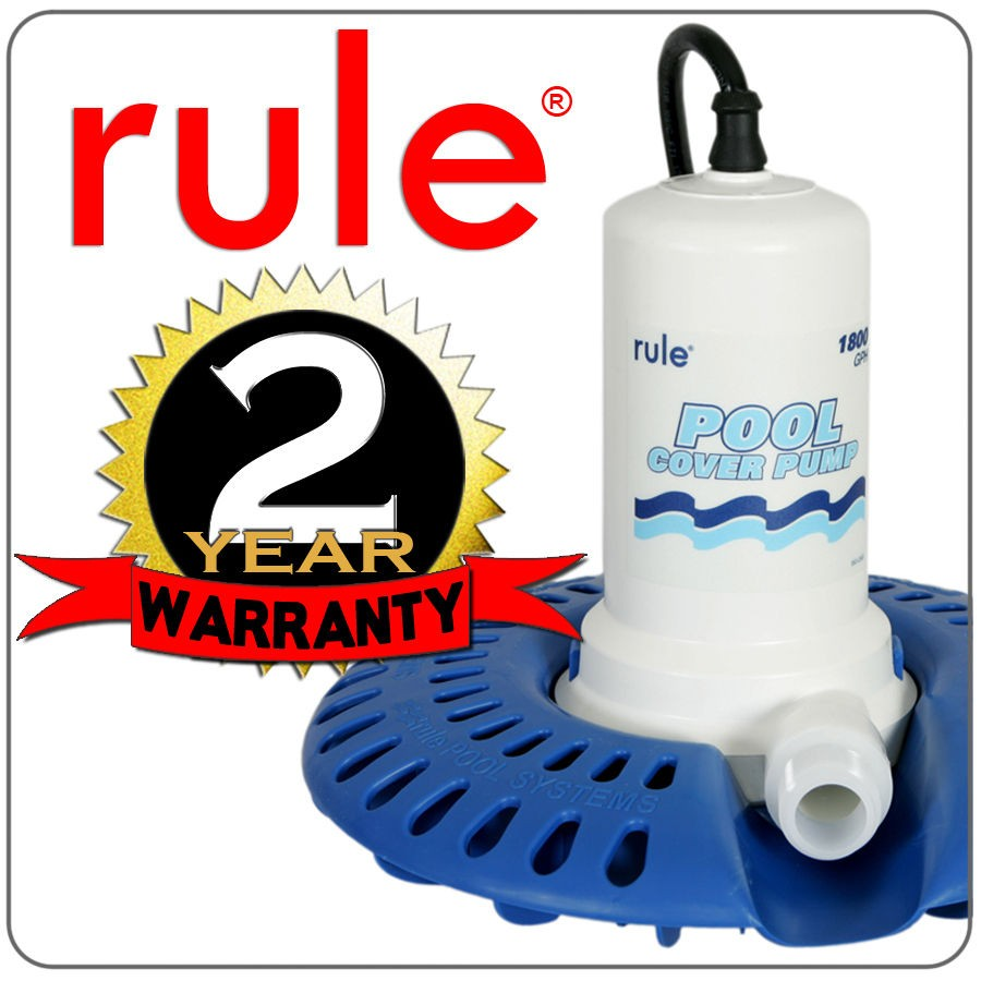 Rule 1800 GPH Automatic Swimming Pool Cover Water Pump