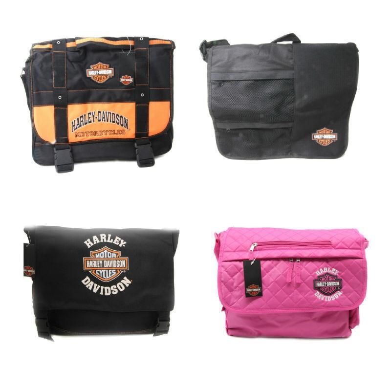 Harley Davidson Bar & Shield Pink Messenger Bag Tote