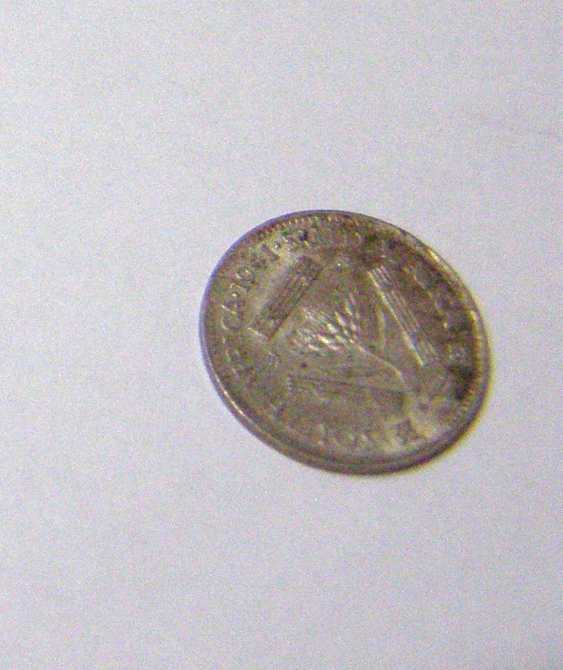 1941 South Africa 3 Pence Georgivs VI Rex Imperator 3D Coin as Shown