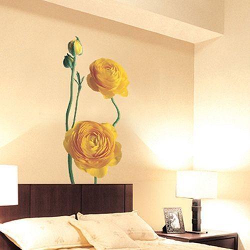 PS2001 YELLOW FLOWER Wall Paper Art Decor Mural Sticker
