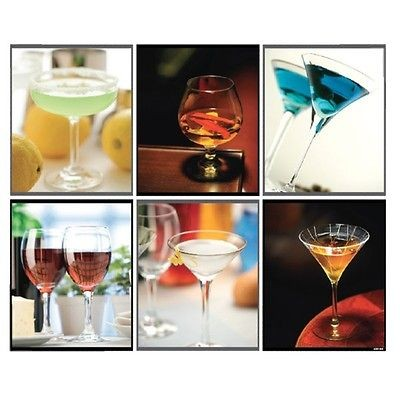 Cocktail Martini PVC Wall Kitchen Cabinet Glass Doors Sticker Decal