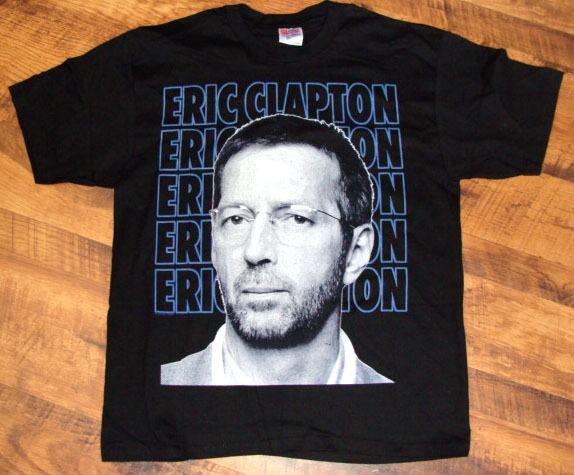 Eric Clapton 1994 North American Concert Tour Vintage Black Tee Shirt
