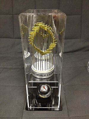 2011 Cardinals World Series Trophy and Replica Ring Case