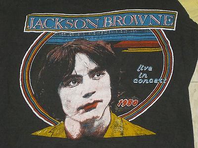 vtg RARE 70s JACKSON BROWNE 1979 80 Tour Jersey Shirt RUNNIN ON