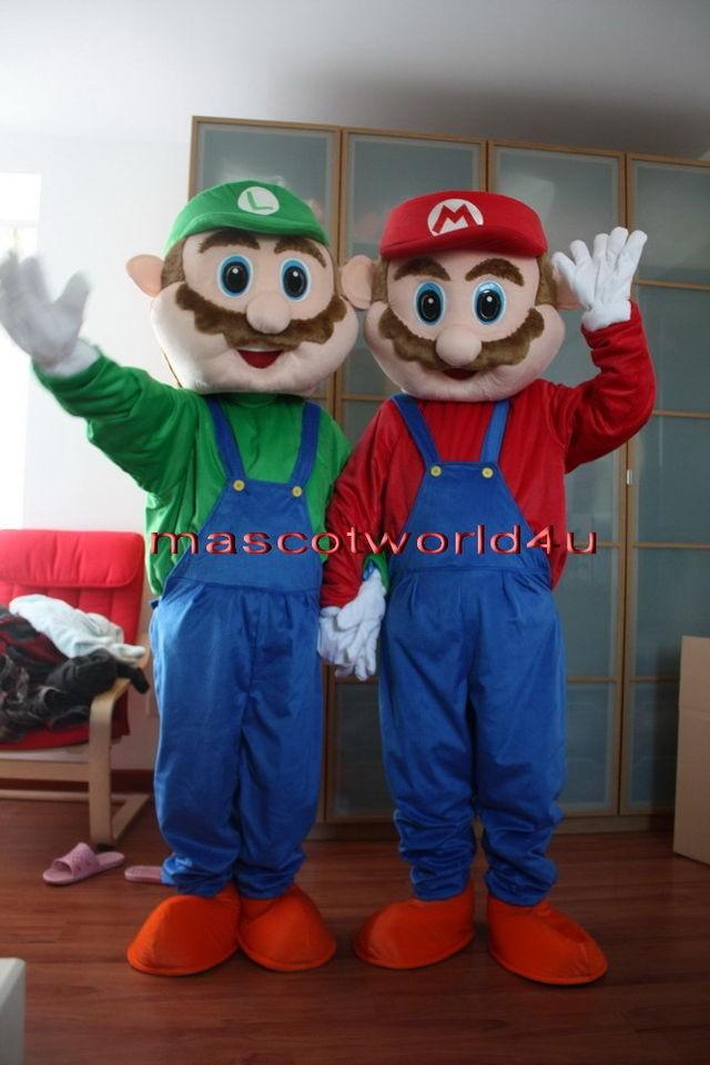 Professional Super Mario and Luigi Mascot Costume