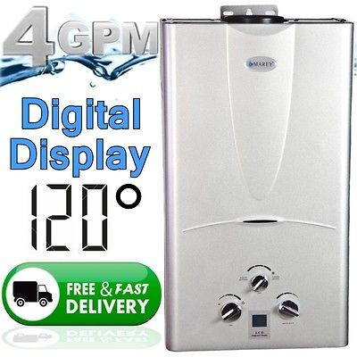 Tankless Hot Water Heater on demand Natural Gas 4.3 GPM Digital Temp