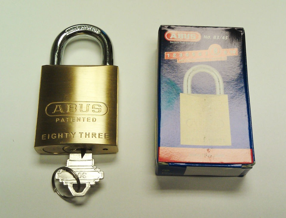 ABUS 83/45 High Security Padlock   Schlage Keyway, We Can Rekey to