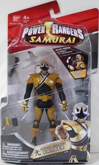 Power Rangers Samurai SWITCH MORPHIN RANGER 6.5 LIGHT 31525 NIP GOLD