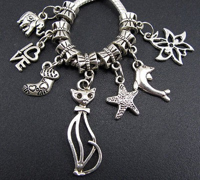 Wholesale 100x Tibetan Silver Mix Lovely Dangle Charm Beads Fit