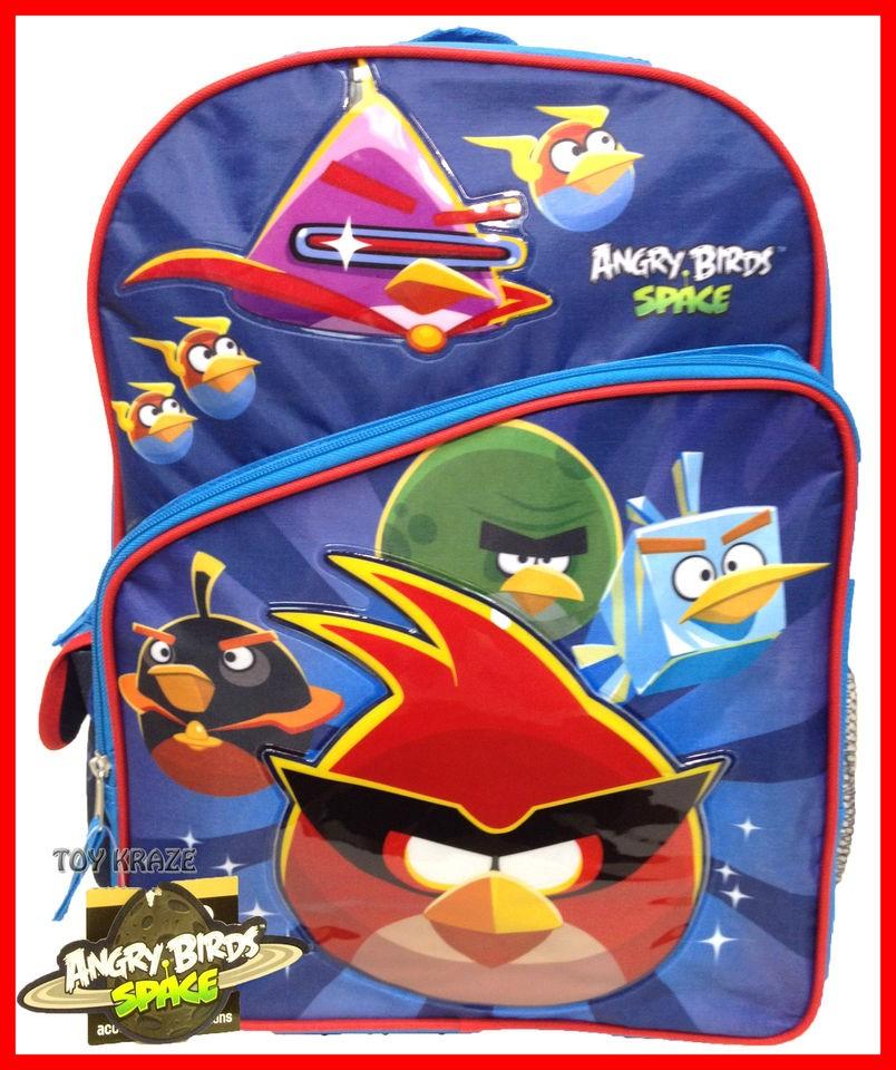 ANGRY BIRDS SPACE BLUE BACKPACK 16 LARGE SCHOOL BAG LICENSED ROVIO