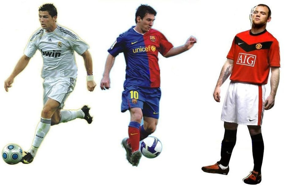 Ronaldo/Messi/​Rooney Giants 33 Wall Stickers Decor Mural Art