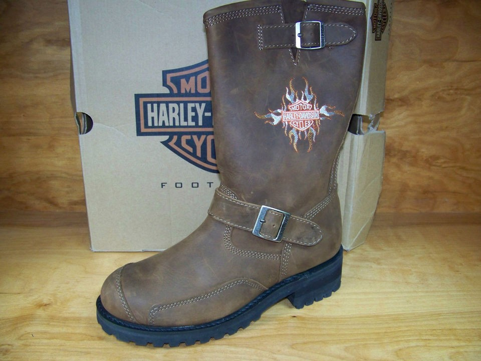 Harley Davidson Logger Conduct Boots D91067 Mens Brown Motorcycle New