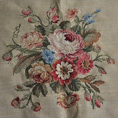 Incredible Preworked Wool Needlepoint Canvas Chair Cover Frame Pi Llow Inzonedesignstudio Interior Chair Design Inzonedesignstudiocom