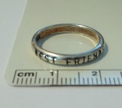 size 6 Sterling Silver says Best Friends Ring