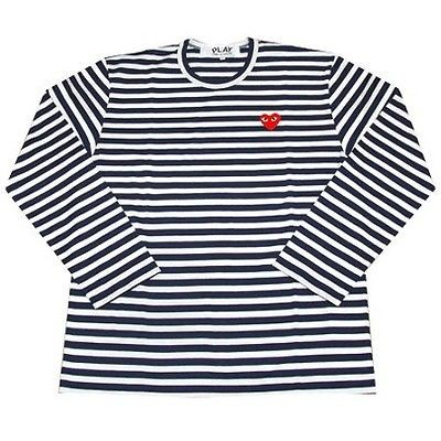 COMME Des GARCONS CDG (11) PLAY RED HEART MENS LONG SLEEVE WHITE SZ