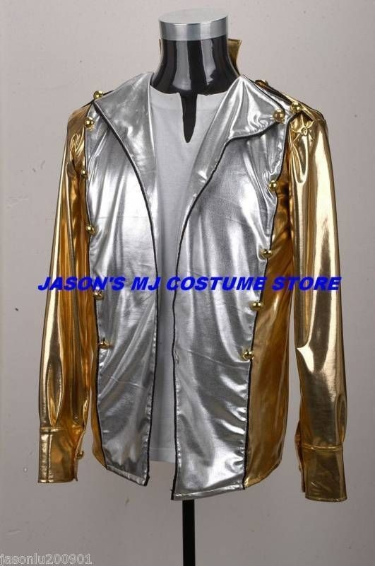 MUST HAVE Michael Jackson Gold History Tour Jacket MJ COSTUME