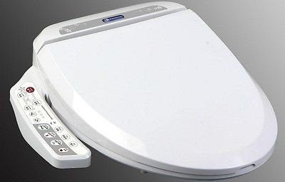 Bidet4me E 200A Electric Bidet Toilet Seat Elongated White  DIY Kit