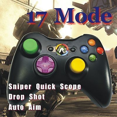 Xbox 360 Rapid Fire 17 Modded Customized Black Controller 17 Mod New