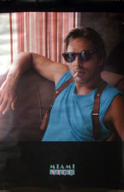 Miami Vice 21x32 Smoking Poster 1984 Don Johnson