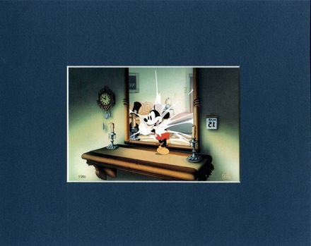 mickey mouse mat print thru the mirror