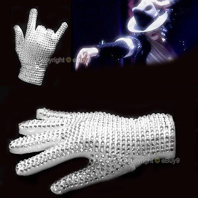HOT Michael Jackson Style White Glove with Brilliant Crystal
