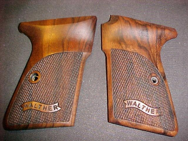 Walther Smith & Wesson PP Fine Checkered Walnut Pistol Grips w/Logo