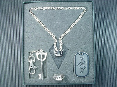 Newly listed Kingdom Hearts Sora Ring Key Blade Dog Tag Necklace Set