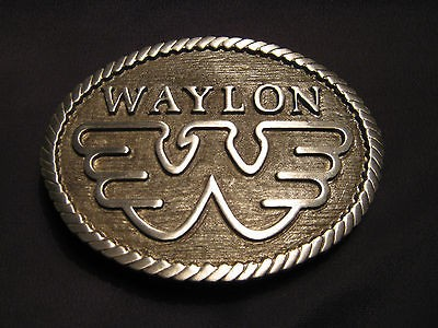 Waylon Jennings Flying W Belt Buckle New old Stock never worn
