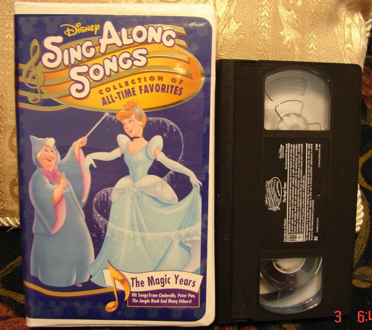 Disneys Sing Along Songs VHS The Magic Years RARE Video Free