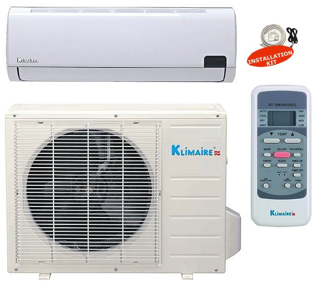 9000 BTU Ductless Mini Split Air Conditioner SEER 19 Klimaire Energy