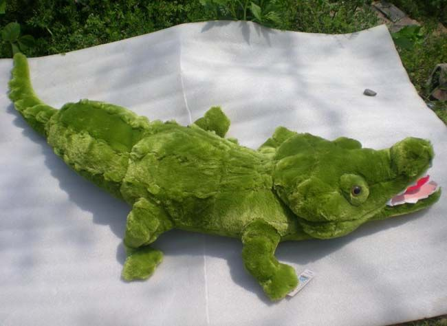 150cm GIANT HUGE 59 ALLIGATOR CROCODILE GREEN STUFFED PLUSH 100%