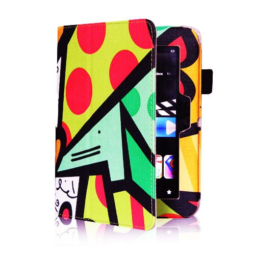 Kindle Fire HD 7 inch Leather Case Cover Car Charger Cable Stylus