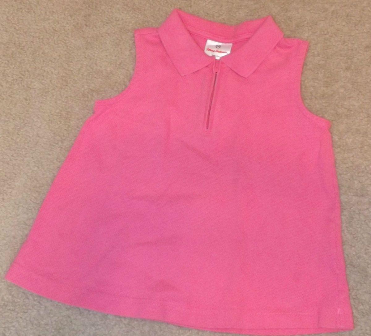 Hanna Andersson Girls Pink Sleeveless Shirt Top 110