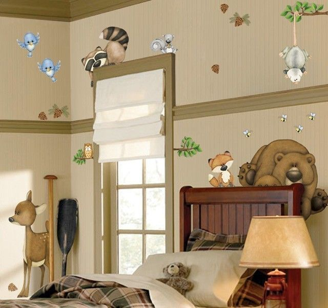In The Woods Forest Animals Wall Stickers Decals Mural