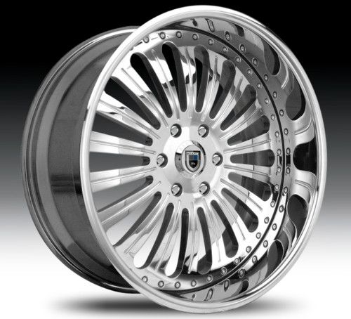 22 asanti AF125 Chrome Wheels Rims 2 Piece