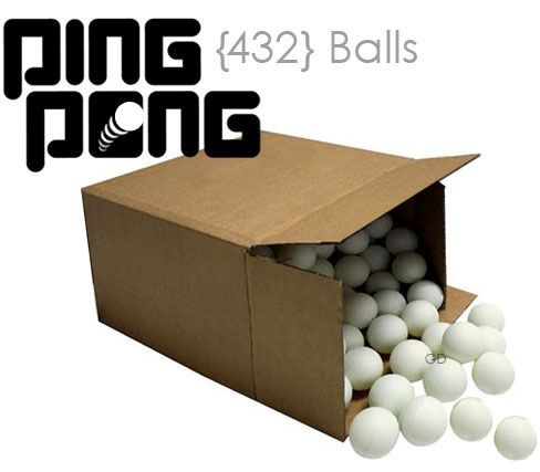 432 Ping Pong Ball Table Tennis Beer White 36 Dozen Wholesale Lot