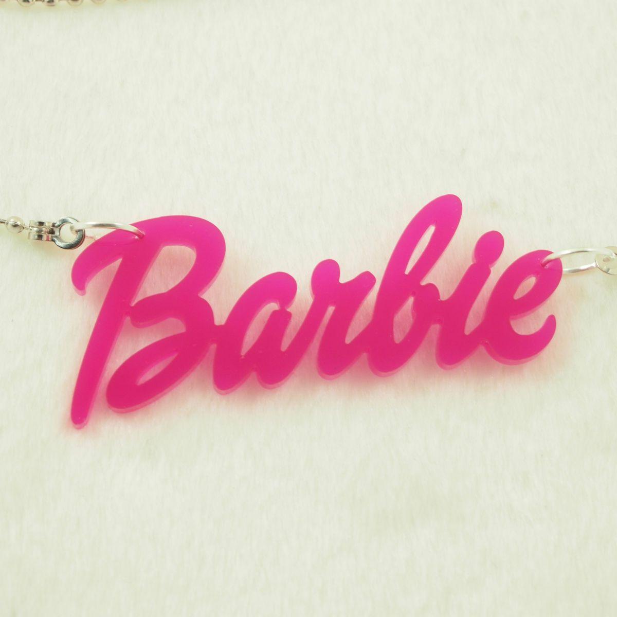 Acrylic Pendant Kitsch Barbie Name Necklace Jewelry Nicki Minaj
